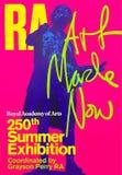 Affiche royale d'exposition d'été d'académie image stock