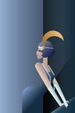 Affiche 20s élégante d'hurlement avec des ailerons Image stock