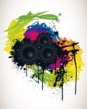 Affiche spectrale de réception Images stock