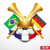 Affiche sportive des matchs de football Photos stock