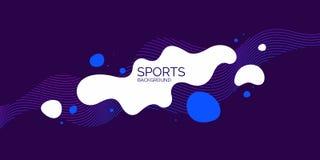 Affiche sportive Fond abstrait dernier cri Composition des formes et des lignes amorphes illustration stock