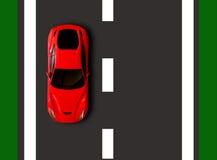 Affiche sur la route Illustration Stock