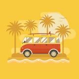 Affiche surfante d'autobus Photographie stock