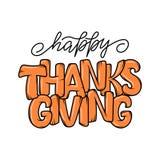 Affiche tirée par la main de typographie de thanksgiving Citation de lettrage de célébration illustration de vecteur