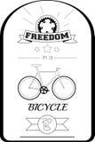 Affiche typographique de bicyclette Image libre de droits