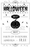 Affiche typographique de Halloween Images libres de droits