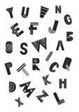 Affiche unique de crèche avec des lettres d'alphabet latin dans le style scandinave Illustration de monochrome d'ABC illustration libre de droits