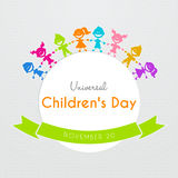 Affiche universelle de jour d'enfants Photographie stock