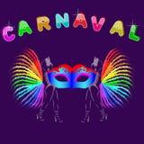 Affiche van carnavalsfeesten in Zuid-Amerika stock illustratie