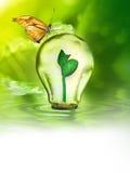 Affiche van de aard de vriendschappelijke en groene energie Royalty-vrije Stock Afbeeldingen