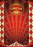 Affiche van de circus de uitstekende ruit Royalty-vrije Stock Afbeeldingen