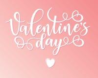 Affiche van de de Dag inspirational van letters voorziende motivatie van Valentine ` s Royalty-vrije Stock Afbeelding