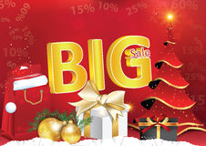 Affiche van de de winter de grote verkoop voor druk Stock Afbeeldingen