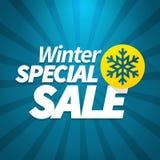Affiche van de de winter de speciale verkoop Stock Afbeeldingen
