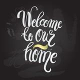 Affiche van de hand de van letters voorziende typografie Royalty-vrije Stock Afbeelding