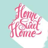 Affiche van de hand de van letters voorziende typografie Royalty-vrije Stock Foto's