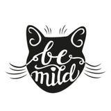Affiche van de hand 'mild' is de van letters voorziende typografie Stock Foto's