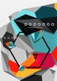 Affiche van de kleuren 3d geometrische samenstelling Royalty-vrije Stock Afbeelding