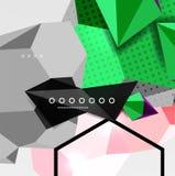 Affiche van de kleuren 3d geometrische samenstelling Stock Afbeelding