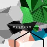 Affiche van de kleuren 3d geometrische samenstelling Royalty-vrije Stock Foto