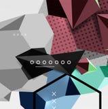 Affiche van de kleuren 3d geometrische samenstelling Royalty-vrije Stock Fotografie
