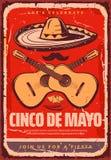 Affiche van de de schetspartij van Cinco de Mayo Mexican de vector