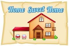 Affiche van het huis de zoete huis Stock Foto's