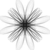 Affiche van het meetkunde de minimalistic kunstwerk met eenvoudig vorm en cijfer royalty-vrije illustratie