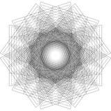 Affiche van het meetkunde de minimalistic kunstwerk met eenvoudig vorm en cijfer stock illustratie