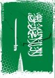 Affiche van Saudi-Arabië Stock Fotografie
