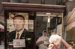 Affiche van Turkse President Recep Tayyip Erdogan Stock Afbeeldingen