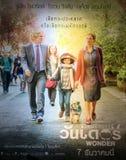 Affiche van Wonder film in Bangkok Stock Afbeelding