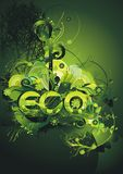 affiche verte environnementale Photos stock