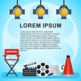 Affiche visuelle de production Images libres de droits
