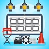 Affiche visuelle de production Photographie stock libre de droits