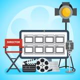 Affiche visuelle de production Image libre de droits