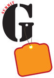 Affiche voor de top G vector illustratie