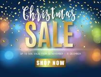 Affiche voor Kerstmisverkoop Royalty-vrije Stock Foto's