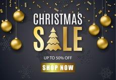 Affiche voor Kerstmisverkoop Royalty-vrije Stock Foto
