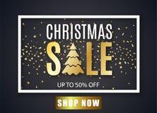 Affiche voor Kerstmisverkoop Royalty-vrije Stock Afbeeldingen