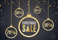 Affiche voor Kerstmisverkoop Stock Afbeeldingen