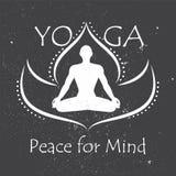 Affiche voor meditatieklasse Stock Afbeeldingen