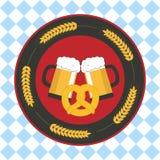 Affiche voor Oktoberfest-Bierfestival Stock Afbeelding