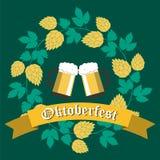 Affiche voor Oktoberfest-Bierfestival Royalty-vrije Stock Foto's