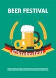 Affiche voor Oktoberfest-Bierfestival Royalty-vrije Stock Fotografie