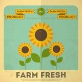 Affiche voor Organisch Landbouwbedrijfvoedsel stock illustratie
