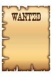 Affiche voulue Image stock