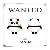 Affiche voulue petit Panda Bear mignon Images libres de droits