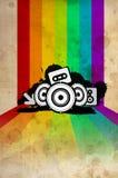 Afficheachtergrond - de disco van de de jaren '80stijl stock illustratie