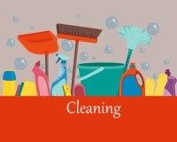 Affichehulpmiddelen om schoon te maken Royalty-vrije Stock Afbeeldingen